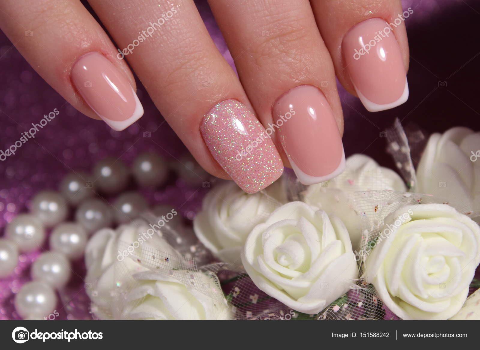 French manicure wedding design — Stock Photo © SmirMaxStock #151588242
