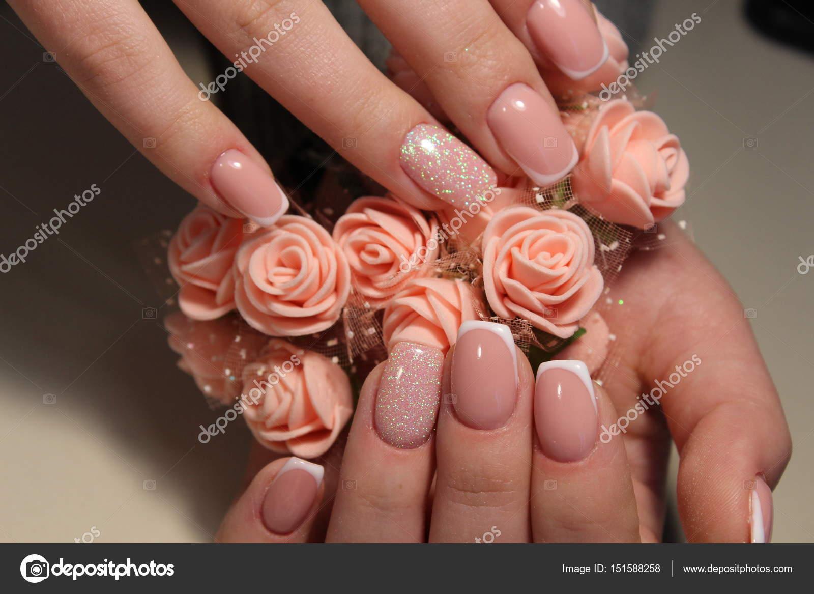 French manicure nail design — Stock Photo © SmirMaxStock #151588258