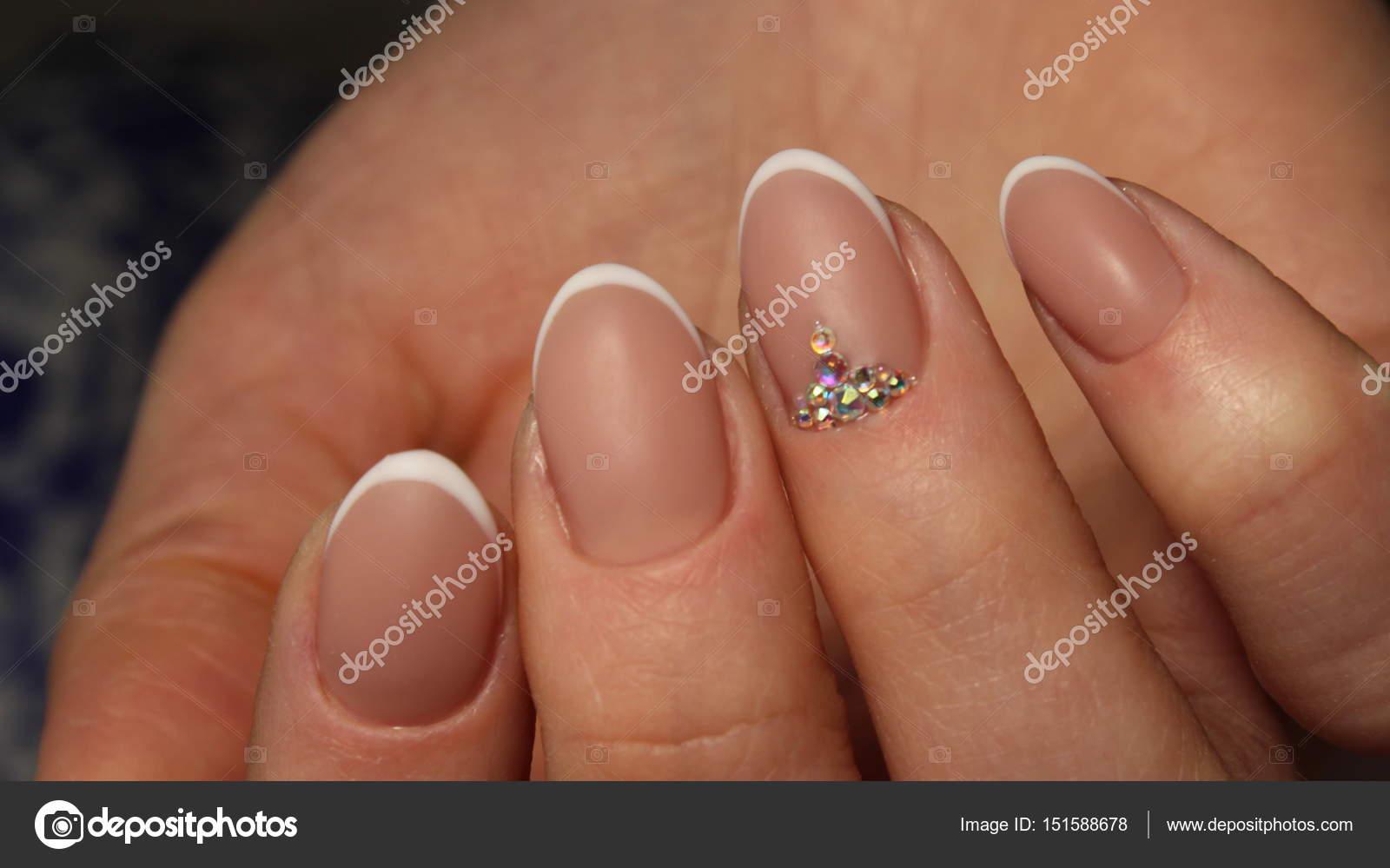 Wedding French manicure design — Stock Photo © SmirMaxStock #151588678