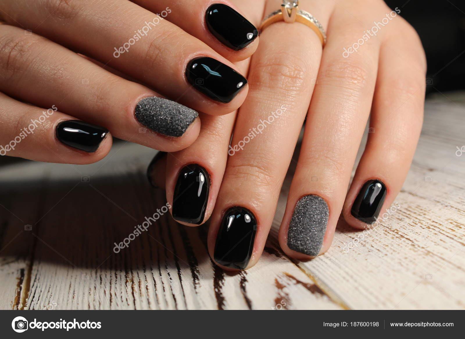 Fashion nails design manicure — Stock Photo © SmirMaxStock #187600198