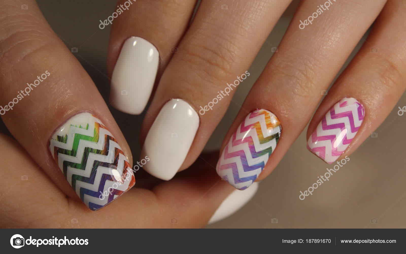 White French manicure design — Stock Photo © SmirMaxStock #187891670
