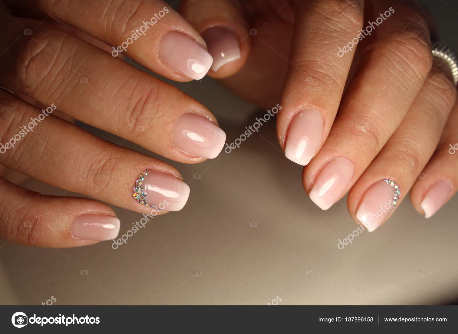 Manicure Design French Stock Photo Smirmaxstock 187896158