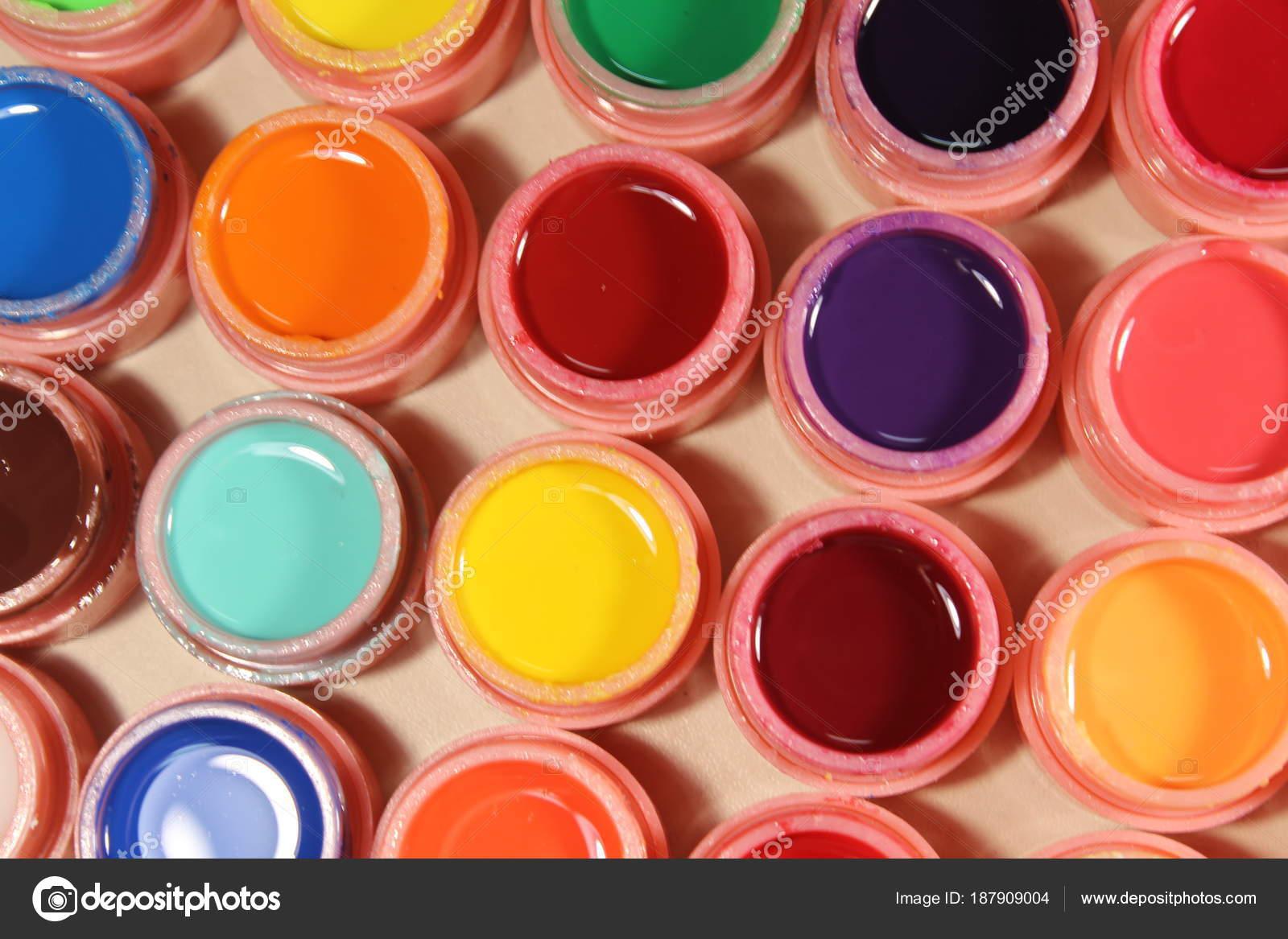 Jasne Kolory Na Paznokcie Wiele Kolorów Zdjęcie Stockowe
