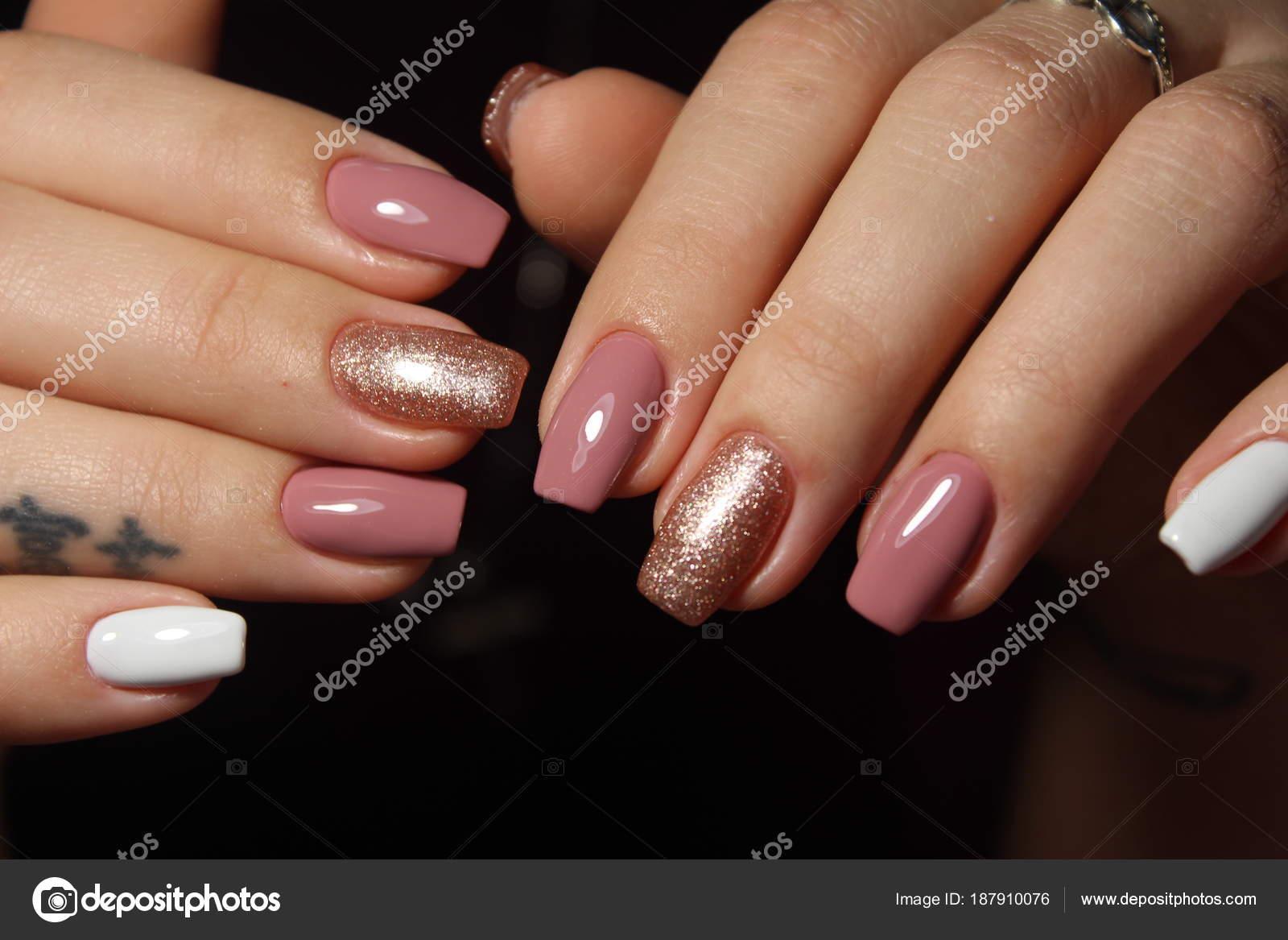 Fashion Nails Design Manicure Stock Photo Smirmaxstock