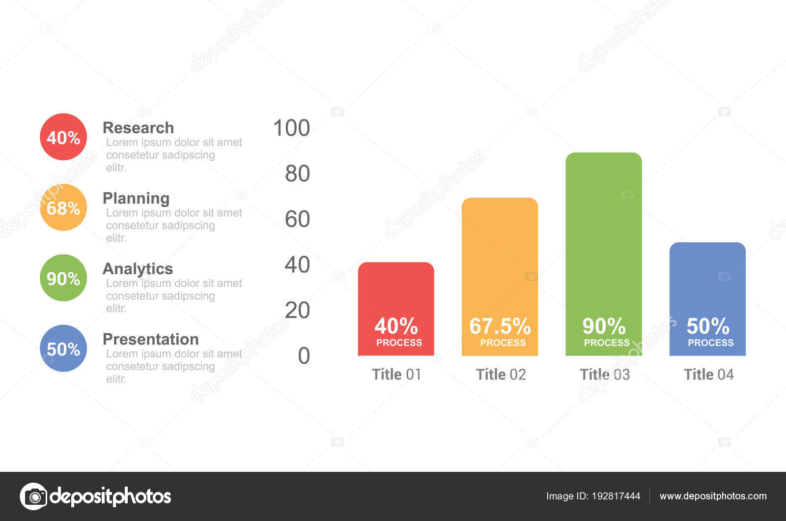 Business Infographic Bar Chart Design Template Option