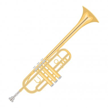 Illustration of a trumpet on white background.