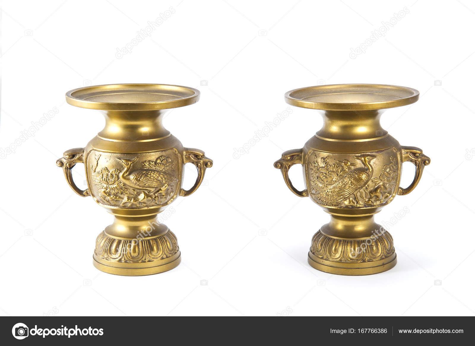 Antique brass vase stock photo zendograph 167766386 antique brass vase on white background photo by zendograph reviewsmspy
