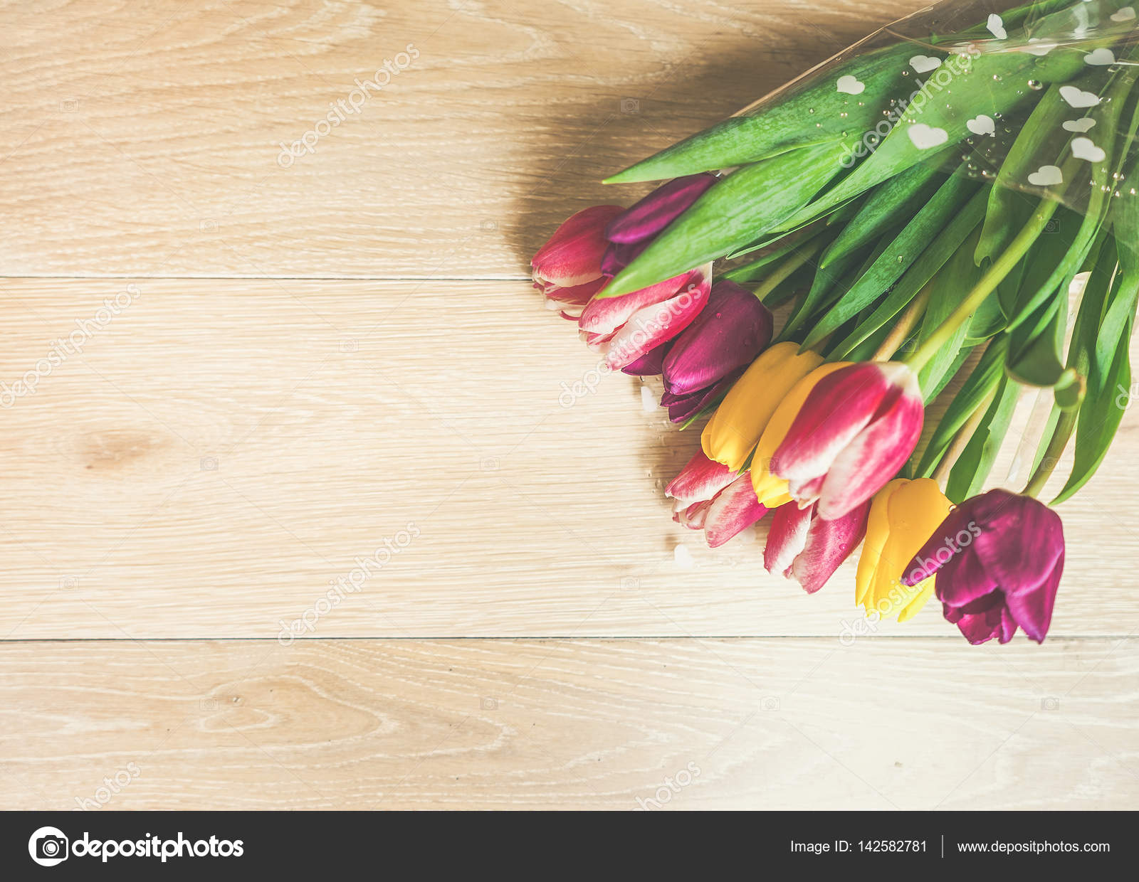 Background With Isolated Flowers For International Womens Day