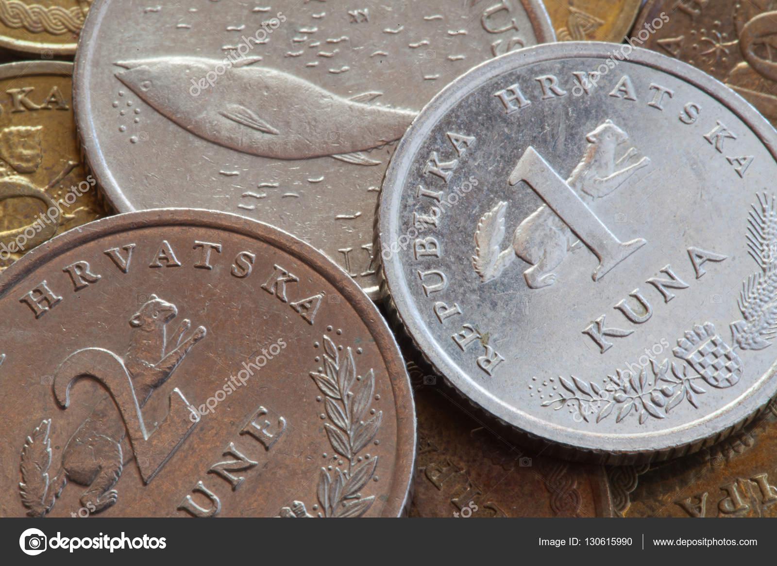 Münzen Von Kroatien Stockfoto Capturelight 130615990