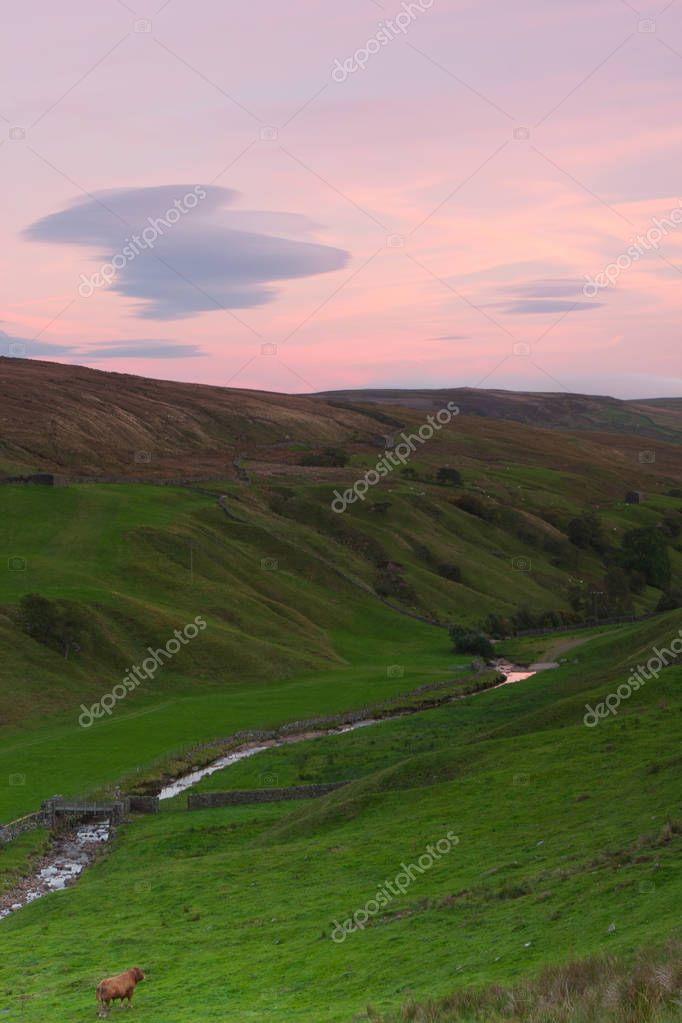 Sunset in the Tan Hill. England