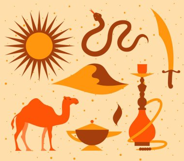 Arabian desert icon