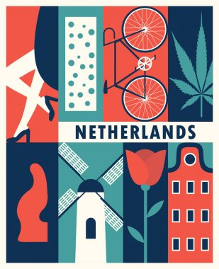 netherlands retro banner