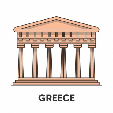 greece famous building icon