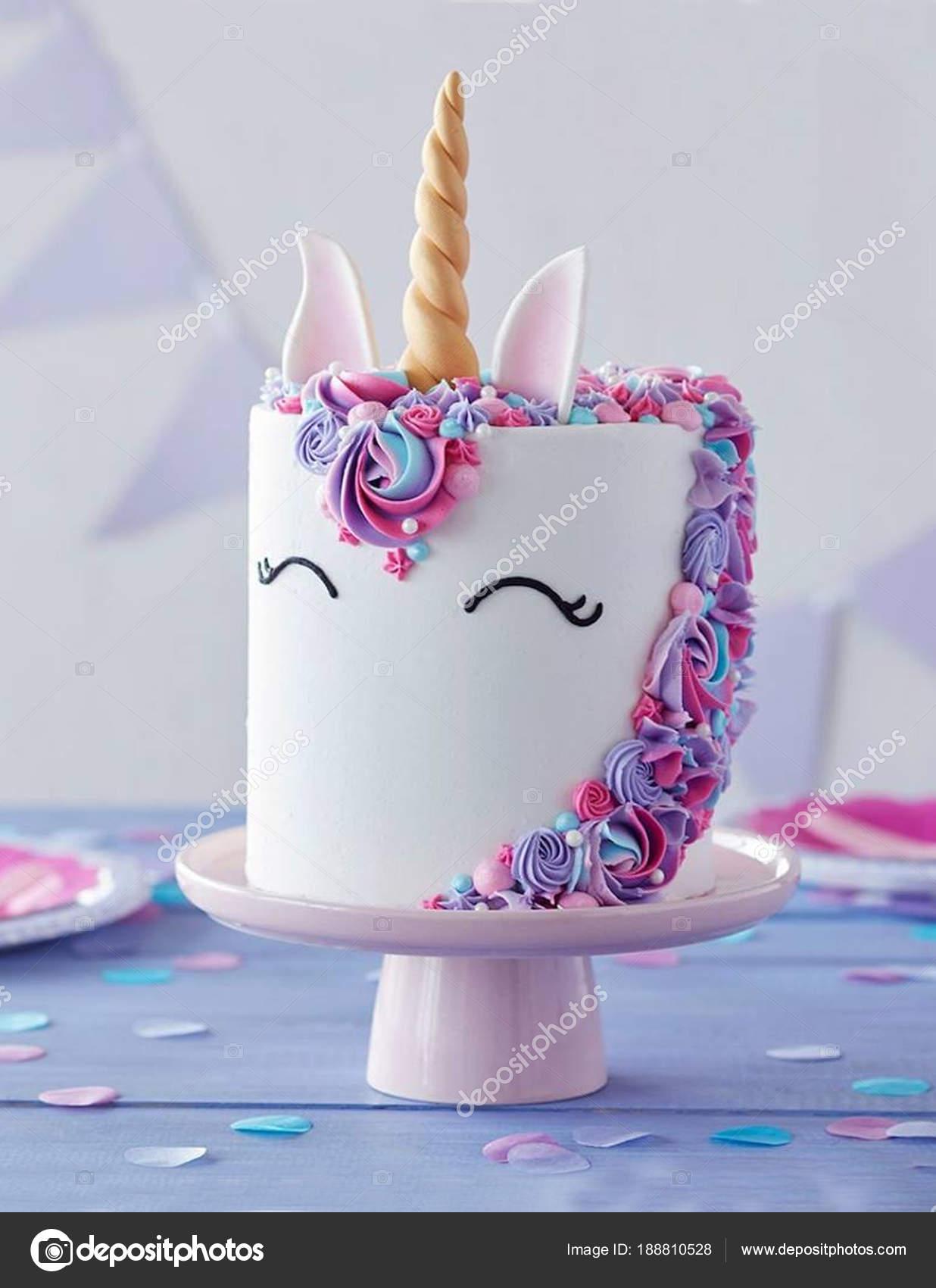 White cake form unicorn pink purple flowers stock photo white cake form unicorn pink purple flowers stock photo mightylinksfo