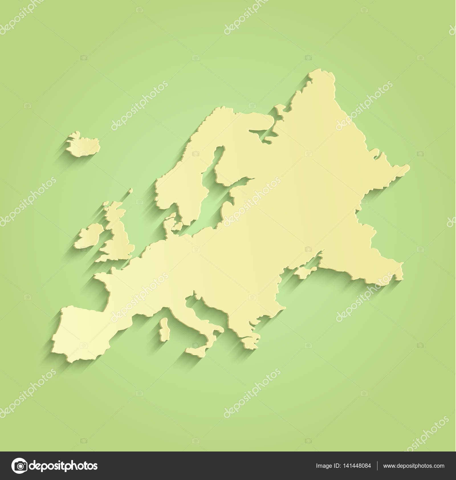 Europe map green yellow raster blank stock photo mondih 141448084 europe map green yellow raster blank stock photo gumiabroncs Gallery