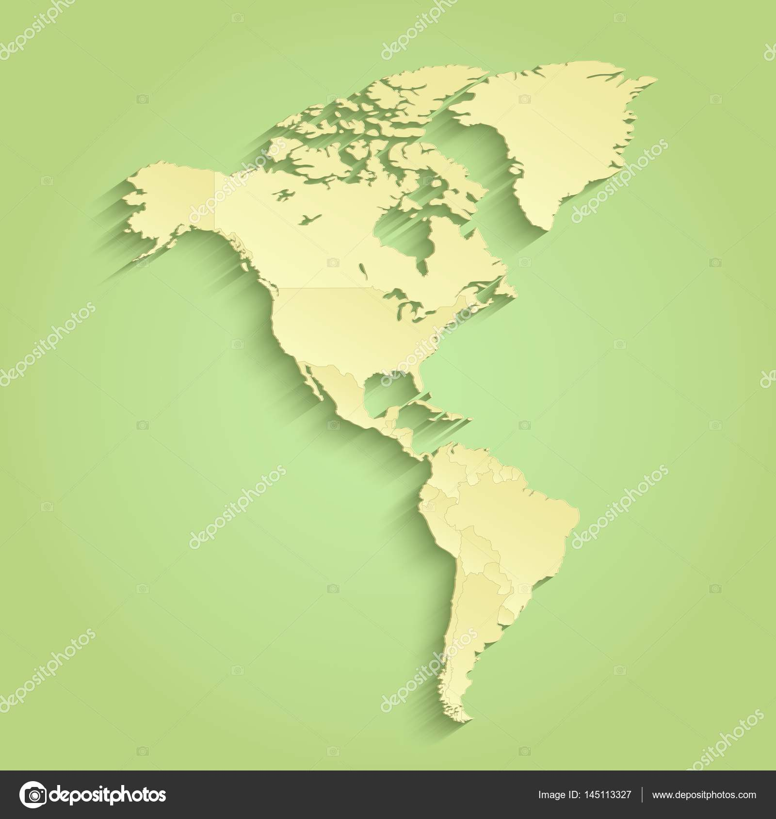 America map separate individual states green yellow raster stock america map separate individual states green yellow raster photo by mondih gumiabroncs Gallery