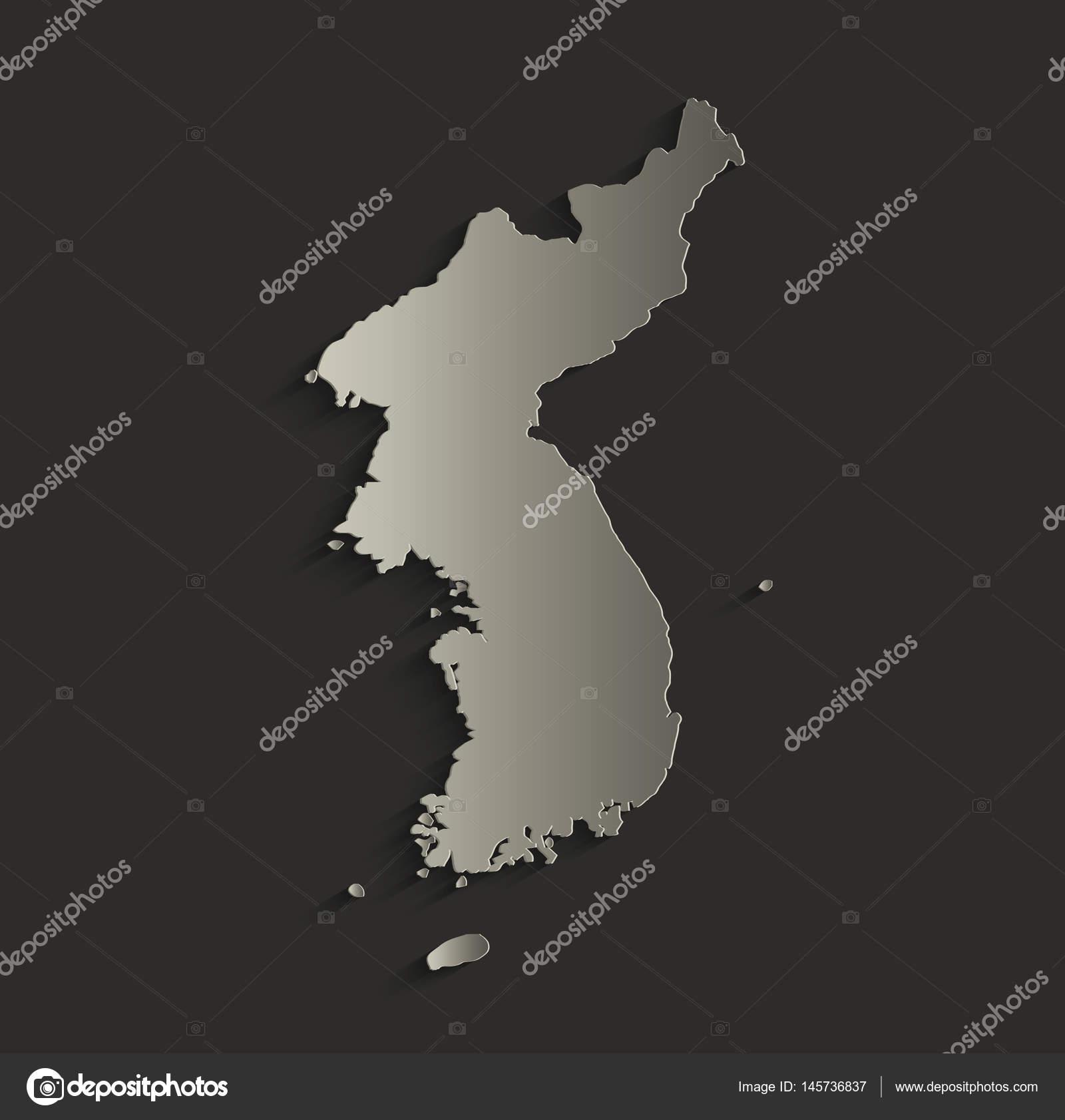 Picture of: Korea Map Outline Card Blank Black Raster Stock Photo C Mondi H 145736837