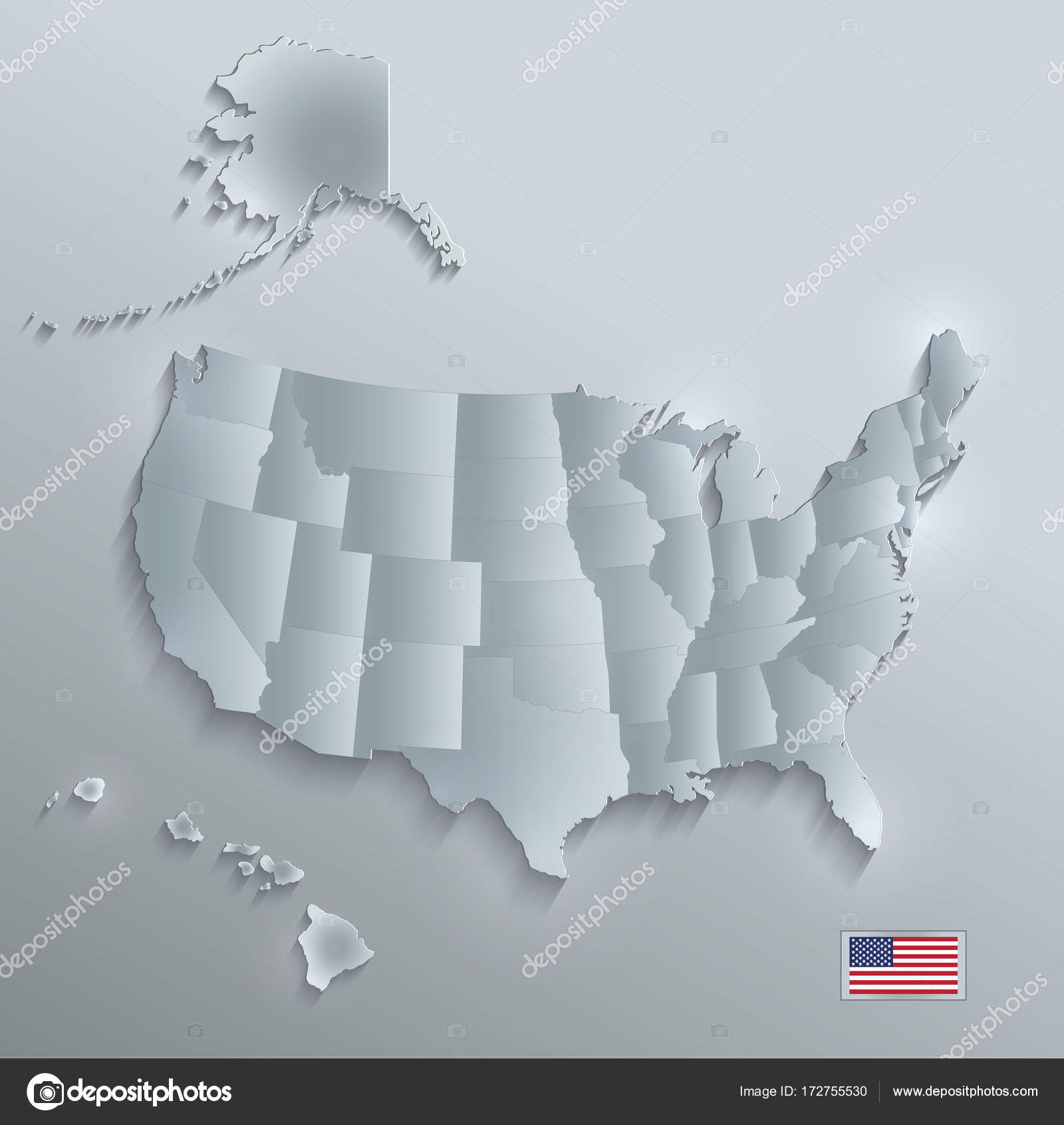 Pictures: united states map to put in | USA map with Alaska ...