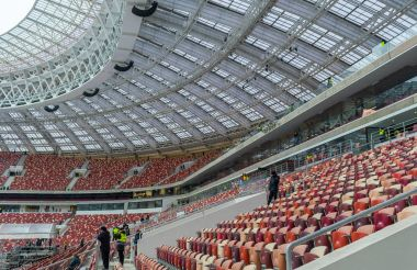 November 4, 2017 Moscow, Russia. The stands of the Luzhniki stadium in Moscow, where the matches of the 2018 FIFA World Cup will be held