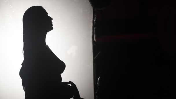 Damenkopfsilhouette