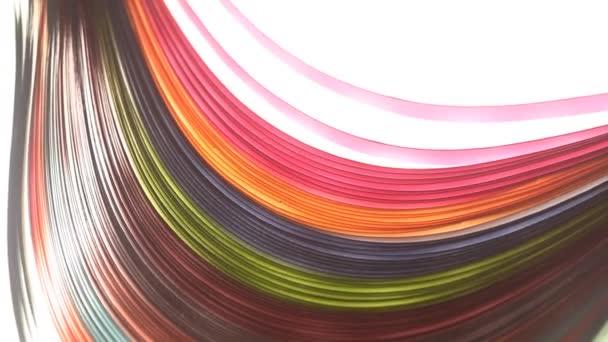 Duha barevné papíry textura