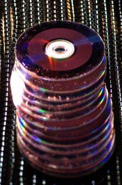 Dvds closeup at studio