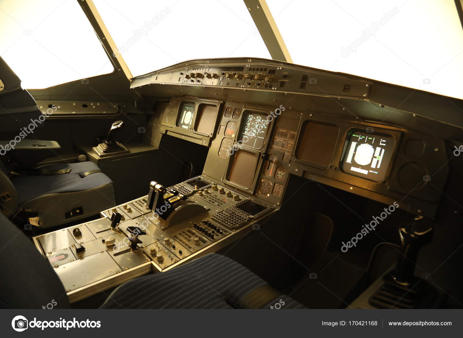 Flight Simulator for training pilots – Stock Editorial Photo