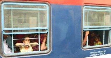 Children in Train,Hyderabad,India