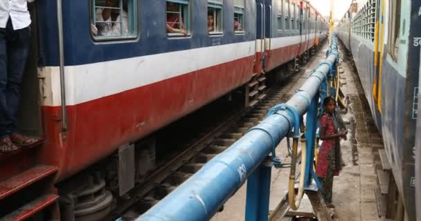 Train Running through the station,Hyderabad,India
