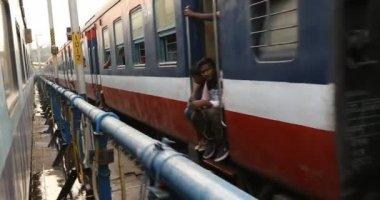 Train Running through the station,Hyderabad,India