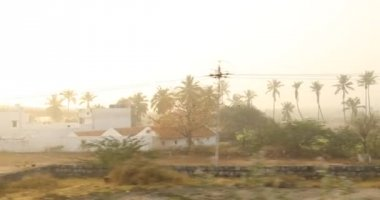 Train Journey Through rural area, Hyderabad, India