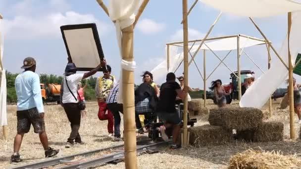 Indian Film crew Making of movie Hyderabad India 25th Dec 2019