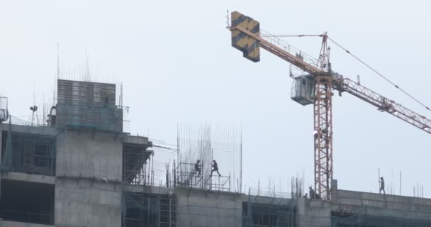 People working at construction site 7th March Hyderabad India