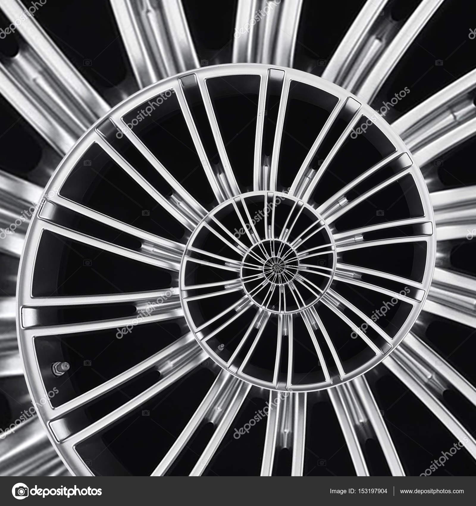 Rueda de coche radios fractal abstracto Freno disco llanta cerca ...