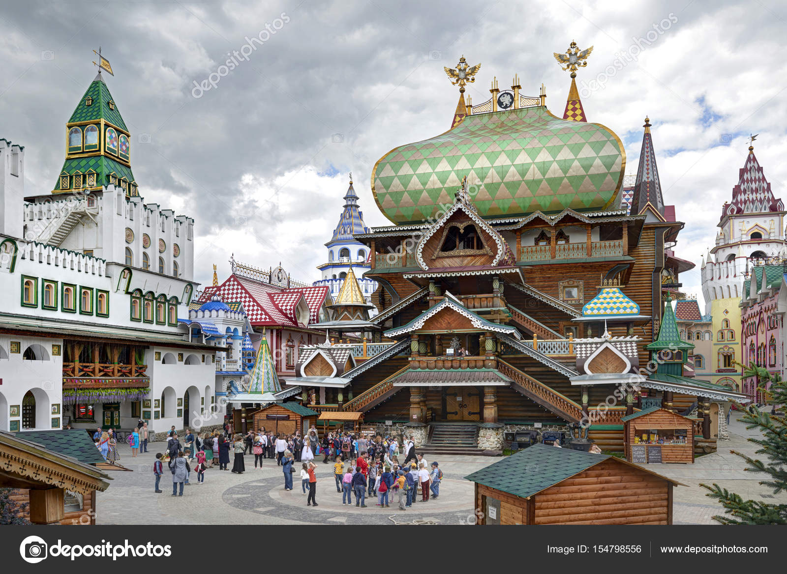 Russian Traditional Classic Wooden And Stone Architecture Buildings Empirial Palace Temple Photo By MikhailLeonov