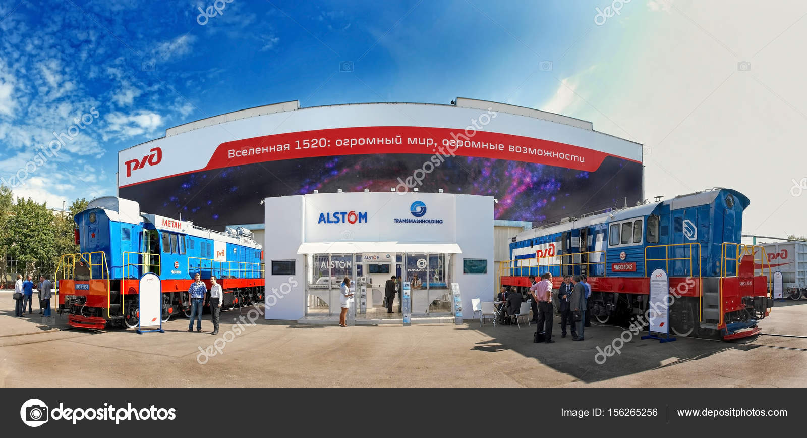 Exhibition Stand Organizer : Moscow sep panoramic view on tmh alstom exhibition
