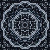 Moderní stříbrné černé hodiny kaleidoskop abstraktní pozadí. Abstraktní surreal clock vzor kaleidoskop černý vzor texturu pozadí. Abstraktní clock ciferník abstraktní vzor