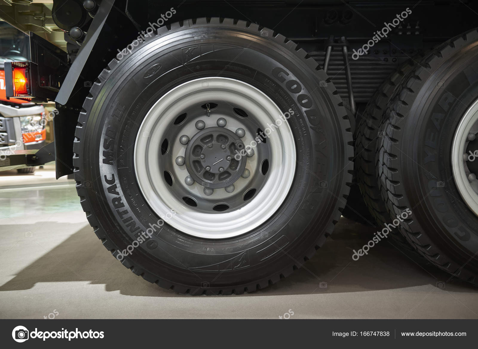 Truck Wheels And Tires >> Moscow Sep 5 2017 View On Volvo Truck Wheels And Tires Truck