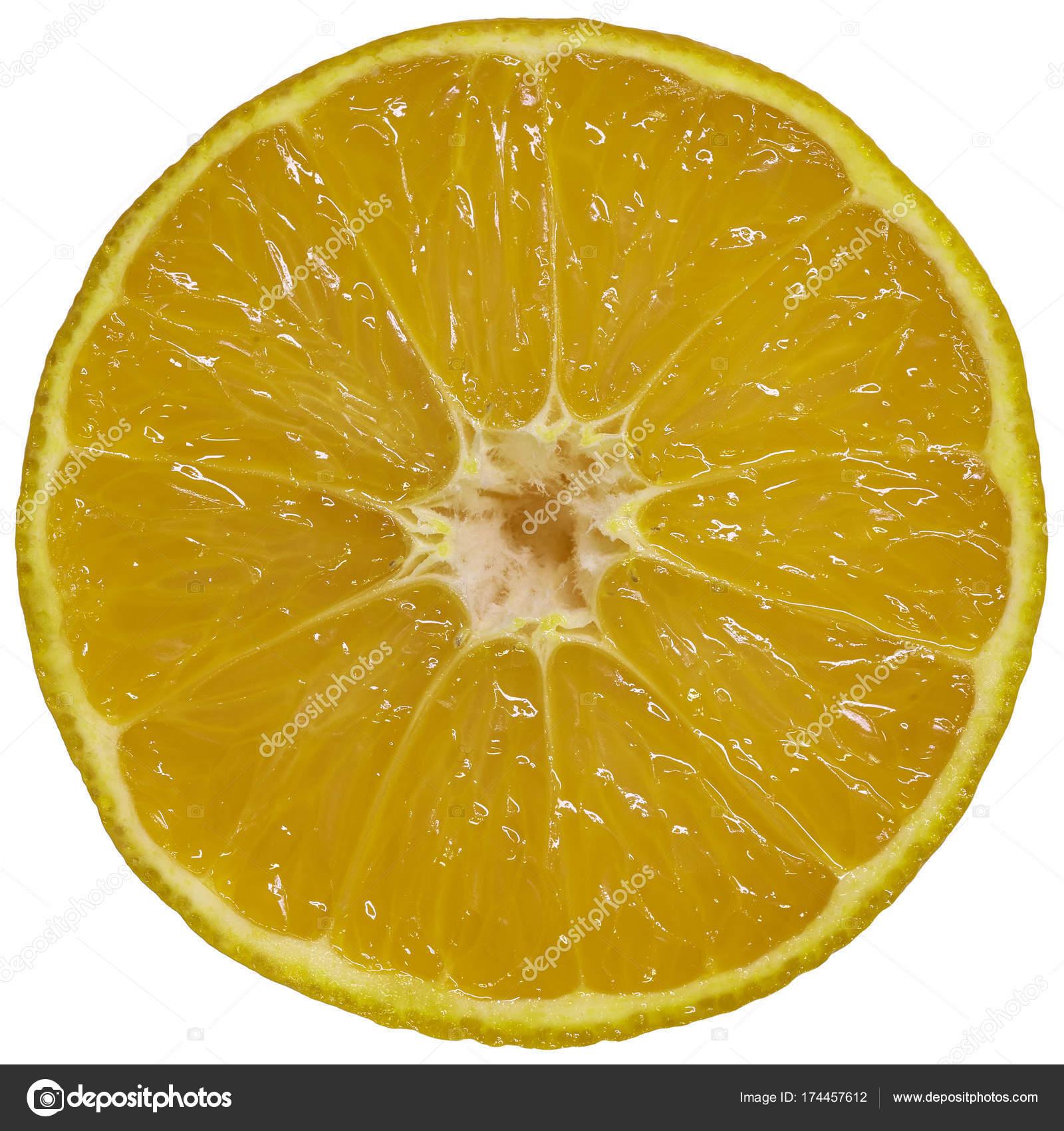 Isolated On White Orange Slice Abstract Background Object