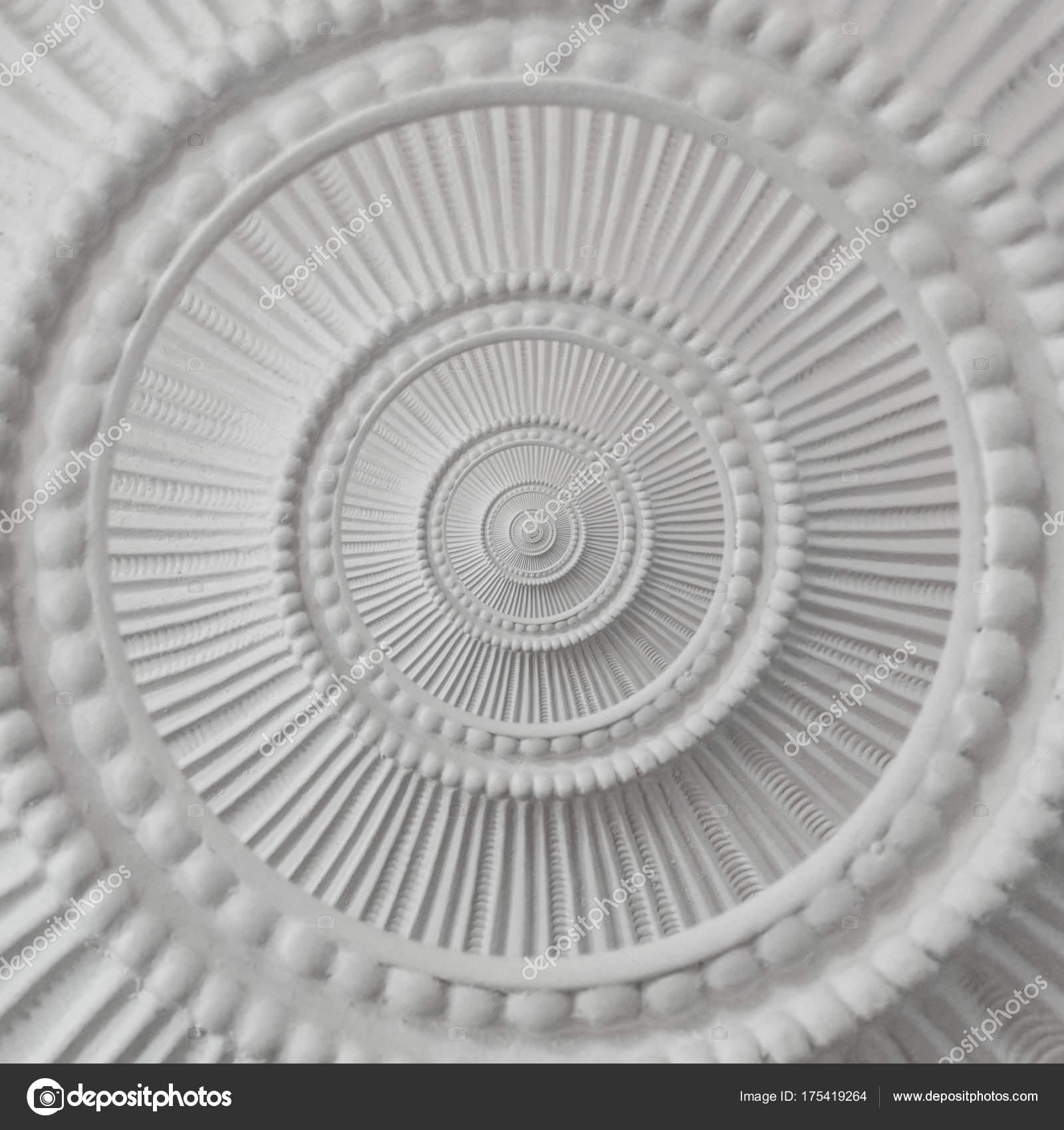 gips stuck guß verputz runde abstrakte fraktale muster hintergrund