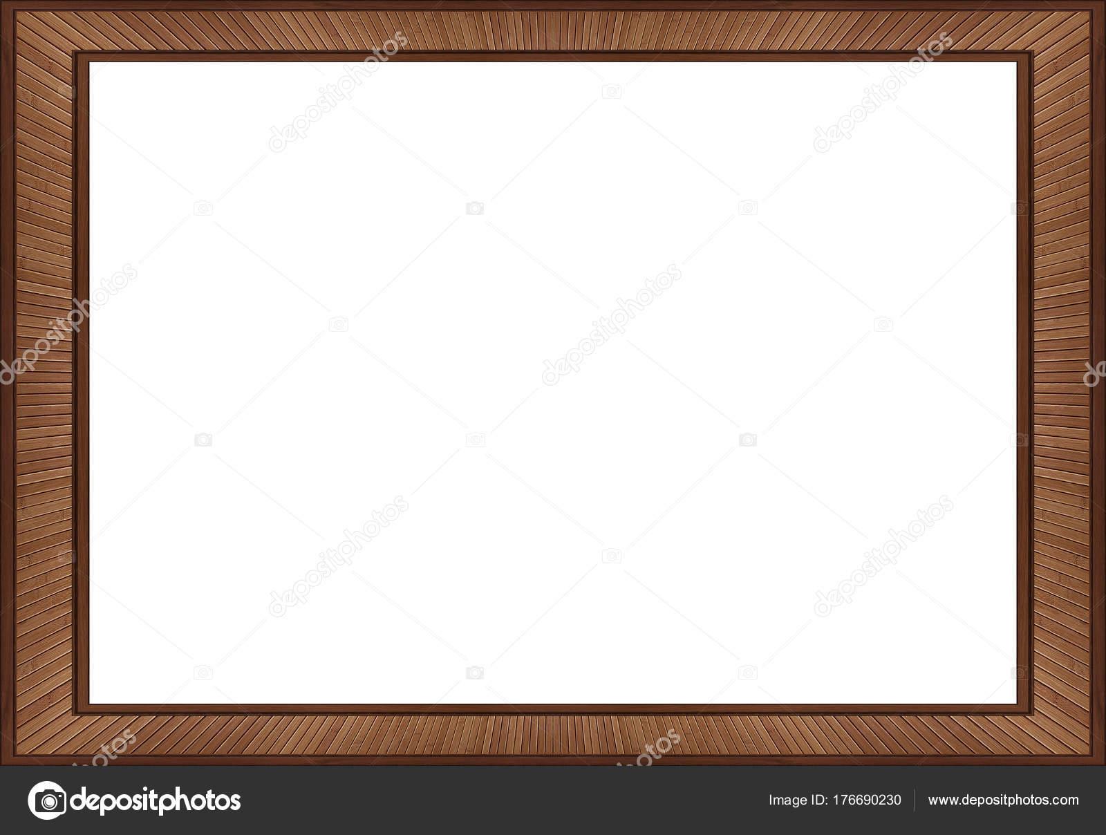 Isolated White Brown Walnut Wooden Frame Element Background Walnut ...