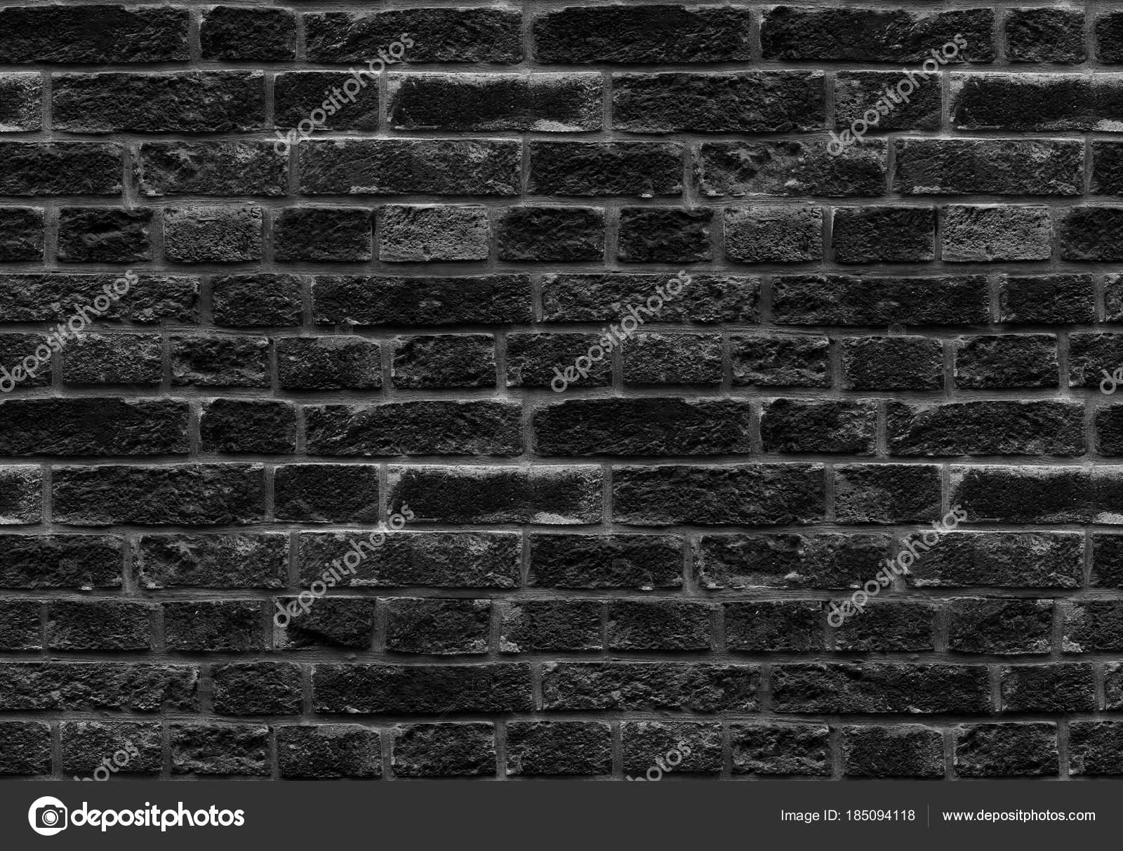 High Resolution Black Seamless Brick Wall Texture Pattern Background