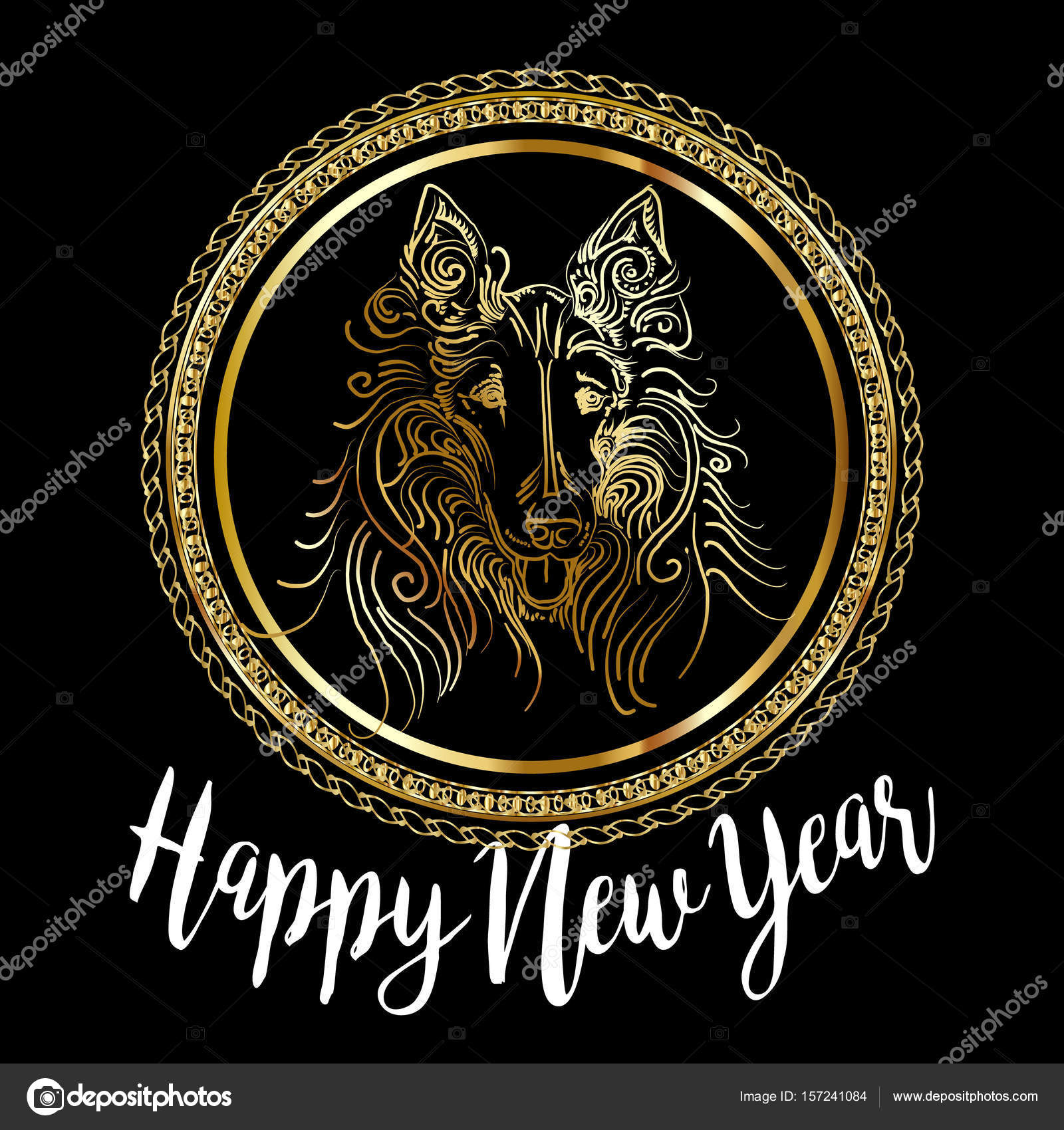 Chinese new year 2018 festive vector card design with cute dog chinese new year 2018 festive vector card design with cute dog zodiac symbol of 2018 buycottarizona Images