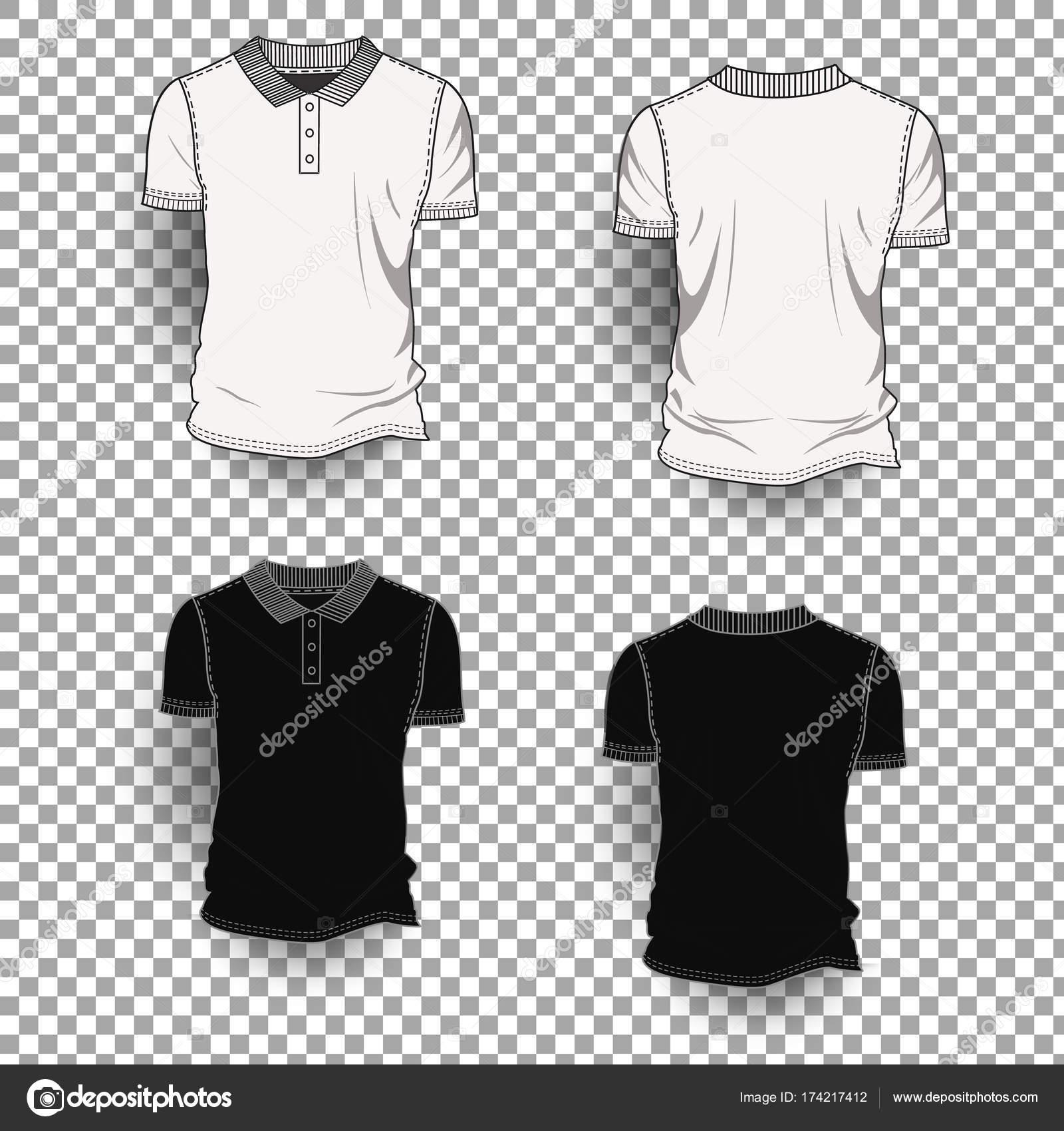 49aec6a89485c6 Przód koszulki szablon z powrotem realistyczny projekt ikonę przezroczyste  tło na białym tle — Wektor stockowy