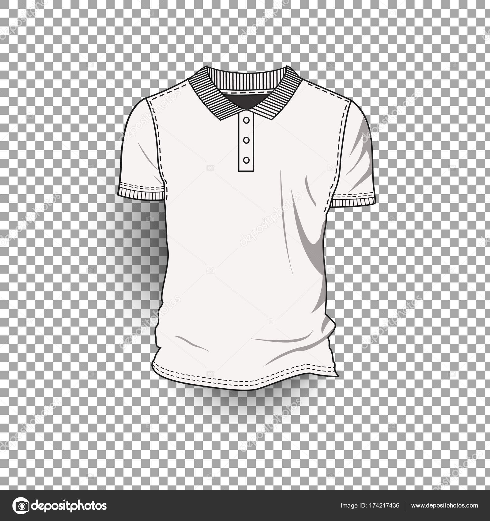 T Shirt Template Front Back Realistic Design Icon Transparent Background Isolated Stock Vector