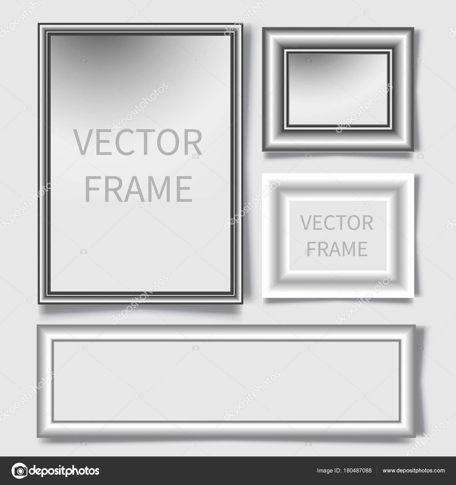 Realistische Bilderrahmen gesetzt. Design-Vorlage für Präsentationen ...