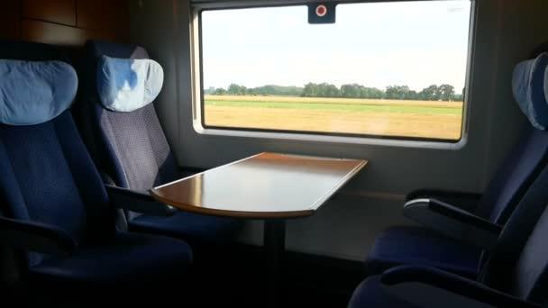 Cestování vlakem okno