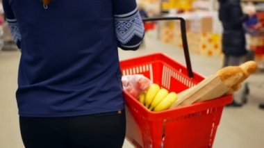 Szupermarket élelmiszer vásárlás