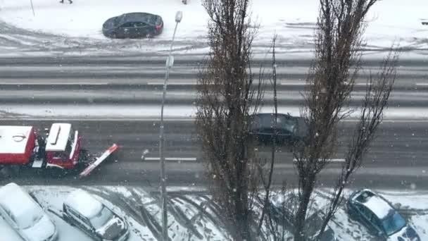 Sníh silniční zimní auto