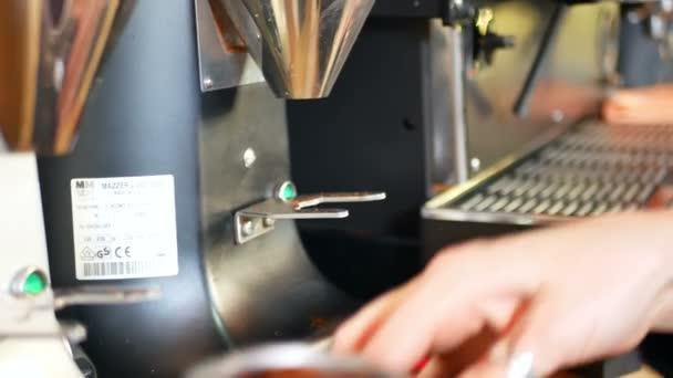 Closeup espresso coffee